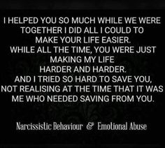 Don't know what I did to deserve the horrors of so much mental emotional abuse Narcissistic People, Narcissistic Behavior, Narcissistic Abuse Recovery, Narcissistic Sociopath, Narcissistic Personality Disorder, Narcissistic Husband, Abusive Relationship, Toxic Relationships, Relationship Quotes