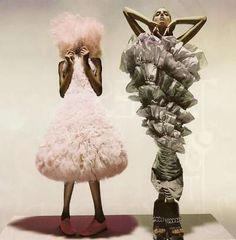 """candentia: """" Jourdan Dunn and Lily Donaldson in 'Unbelievable Fashion' Photographer: Nick Knight Dress on Jourdan: Hussein Chalayan S/S 2000 Dress on Lily: Viktor & Rolf S/S 2006 Vogue UK December. Hussein Chalayan, Weird Fashion, Cute Fashion, Fashion Art, Editorial Fashion, Fashion History, Trendy Fashion, Fashion Pictures, Ladies Fashion"""