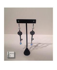 Hailey- key swarovski drop earrings