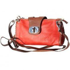 2282b646d9 Amazon.com  LaGaksta Carino Italian Made Soft Leather Mini Crossbody  Shoulder Bag -Red-Brown  Shoes