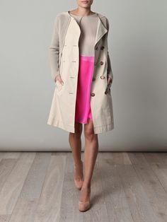 BOTTEGA VENETA  Pepper gabardine cotton coat
