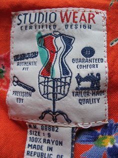 Studio Wear - vintage clothing label