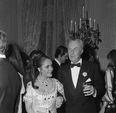 with Baron Fred de Cabrol at the Rothschild Ball