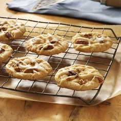 Praline Cookies Recipe -These cookies are both crisp and chewy. They can be frozen after they're iced for real convenience. With two small children, that's a great way to have my baking done ahead of time for holidays or special occasions. The only problem is hiding them so my husband can't find them! —Melody Sroufe, Wichita, Kansas