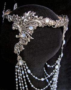 Elven Fairy Wedding Crown Circlet Diadem Tiara by AMonSeulDesir