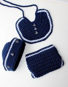 Crochet Sailor Hat Pattern Crochet Bib by PatternsByKrissy