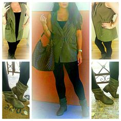 Loving my #militarygreen hooded vest & #suedebooties to go with it #fashion #style #follow #f4f #instafashion #fblogger #aboutalook #nordstrom #ootd #wiw #wiwt #outfitinspo #followme #jjlifenstyle
