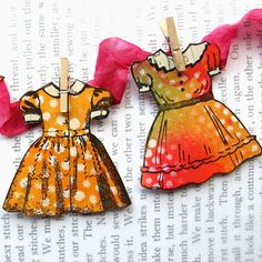 Dress Rubber Stamps Stamped on Art Start Collage Sheets with black ink.