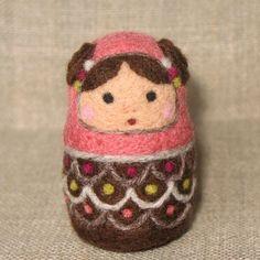 Wool Felt Matryoshka Nesting Doll