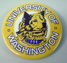 UW Huskies Button.
