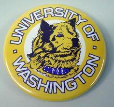 UW Huskies Button.