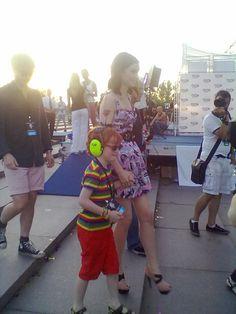 Софи с сынишкой на Europa Plus LIVE 2011
