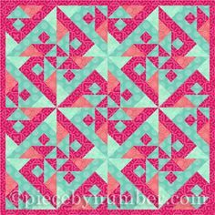 Parrot's Puzzle – free quilt block pattern for paper piecing Patchwork Quilt Patterns, Beginner Quilt Patterns, Paper Piecing Patterns, Quilt Patterns Free, Pattern Blocks, Quilt Tutorials, Puzzle Quilt, Quilt Blocks, Quilt Modernen