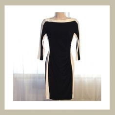 1 DAY SALE.    Ralph Lauren B/W Dress Brand new with tag. Beautiful black and white evening/cocktail long sleeve dress. Size 2P. 95% Polyester. 5% Elastane. Valued at $134. 15% off two items or more.  Trades  PP. Reasonable offers always welcome Free shipping with orders over $75  FREE gift  with purchase (any one $10 or under item from my closet) Ralph Lauren Dresses Midi