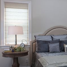 Just found the perfect window treatments!! - Blinds.com. – Signature Roman Shade #homedecor #blinds #roman-shades