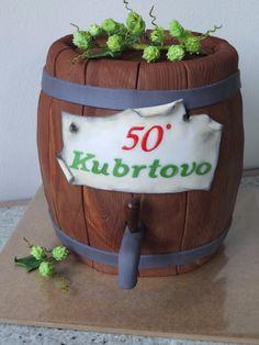 Cake keg of beer