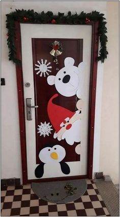 132 how to make super easy christmas decorations on a budget snowmen doors 56 | Pointsave.net