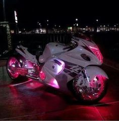 White & pink lighted crotch rocket! Ugh I adore this!