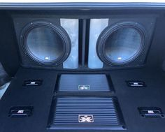 XThunder #amplifiers with 75 series #subwoofers in a custom ported enclosure. #mtxaudio
