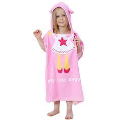 IDGIRL New Cartoon Animal Baby Hooded Bathrobe Infant Bath Towel Bathing  Robe For Children Kids Baby 83651f614