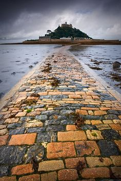St Michael's Mount, Cornwall ~ When the tide is out you can walk across