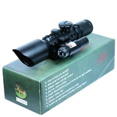 64.82$  Buy here - http://ali0cj.worldwells.pw/go.php?t=32585124118 - High Quality 3-10x40 Tactical Rifle Scope Red Laser Dual illuminated Mil-dot w/ Rail Mounts Combo Airsoft Weapon Sight Hunting