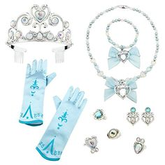 Disney Store Exclusive Elsa Costume 10 Piece Accessory Set - Frozen -- Continue to the product at the image link. (This is an affiliate link) #DressUpAccessories