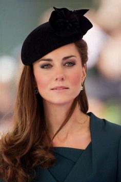 555f5b6527c Princess Kate in black hat -- This is a BEAUTIFUL photo. Princess Diana