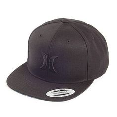 1038683389c Hurley Hats Solid Krush Snapback Cap - Black