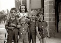 1940 - Children of migrant agricultural workers in Berrien County, Michigan.