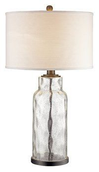 Clear Glass table lamp | Bedroom Ideas | Farmhouse table lamps ...