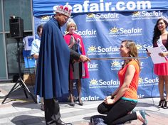 Jenni Hogan knighted as Duchess of Social Saviness at Seafair kickoff!