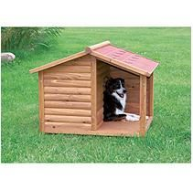 The Pebbles Palace Dog House with covered porch features professional tounge and groove sturdy construction insuring this shelter will endure years of use with very little maintenance and keep your pet insulated from the cold.The Palace Dog House covered Rustic Dog Houses, Pet Houses, Plastic Dog House, Wood Dog House, Wooden House, Canis, Dog House Plans, Niches, The Perfect Dog