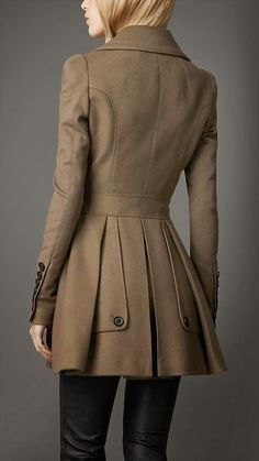 Dark Brown Ladies Trench Work Coat