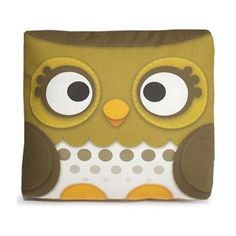 Handmade Gifts   Independent Design   Vintage Goods Mini Owl Pillow - Olive Green - Cute Cute Cute!