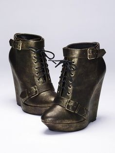 Wedge Lace-up Bootie.