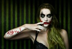Genderbend on Mistress-Gotham - DeviantArt Female Joker Cosplay, Joker And Harley Quinn, Halloween Cosplay, Portrait Photo, Gotham, Mistress, Carnival, Halloween Face Makeup, Deviantart