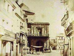 Cuando la Avenida de la Constitución era la calle Génova (1855). Fue ensanchada en la década de los años veinte