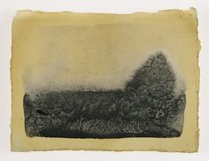 Cornelia White Swann: Fugitive Color, The Road to Peña made from henna, sheep sorrel on paper