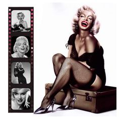 Quadro Marilyn Monroe Batom Vermelho Impressão Digital 30x30 - Atelier Valverde