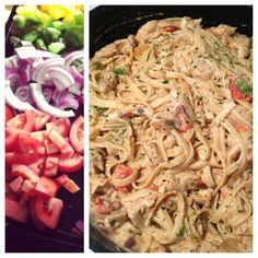 Cajun Chicken Pasta ..I used the recipe from o'charleys me and my cousin Krys love it!