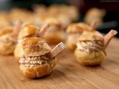 Choux fourrés à la mousse de foie gras