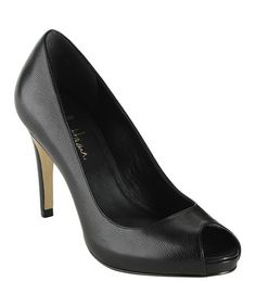 Take a look at this Black Air Violet Open-Toe Pump by Cole Haan on #zulily today!