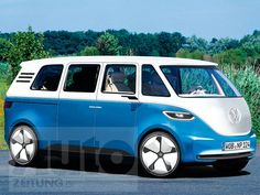 If/when we get married, I want to buy this car. It would be so perfect for us and our family and it's a VW Bus! Vw Kombi Van, Car Volkswagen, Vw Cars, Vw T1, Vw Camper, Neuer Ford Mustang, Electric Van, Combi Vw, Mini Bus