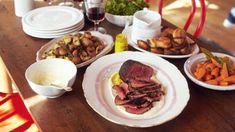 Roast Beef, Baby Yorkies, Little Carrots, Crispy Potatoes, Super-Quick Gravy
