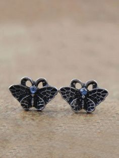 #VINTAGE #BUTTERFLY #STUD #EARRINGS