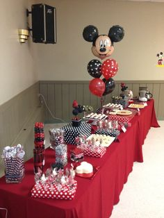 """Photo 31 of 55: Mickey and Minnie Mouse / Birthday """"Baby J's 1st Birthday"""" 
