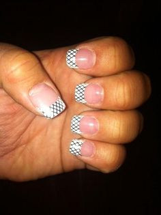 Silver Fishnet French Tip Manicure #nailart #easy from #JamberryNails See more here: http://noelgiger.jamberrynails.net/home/products.aspx?id=42