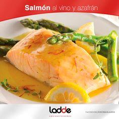 Salmón al vino y azafrán  http://on.fb.me/1qF9tLr  #Receta #Ladde