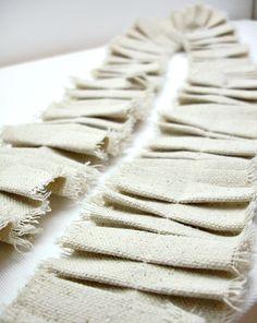 Shabby Ruffle Ribbon -- Burlap Alternative, Christmas Tree Garland, Rustic Fabric Streamer, Shabby Chic Wedding Garland #BurlapAlternative #WeddingGarland #Christmas